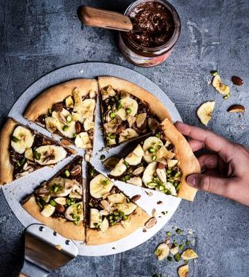 Ovomaltine Pizza mit Banane
